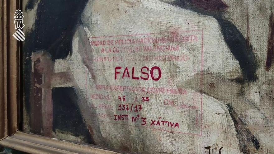 La Policía de la Generalitat interviene pinturas falsas de Goya y Benlliure que se vendían por 1,2 millones
