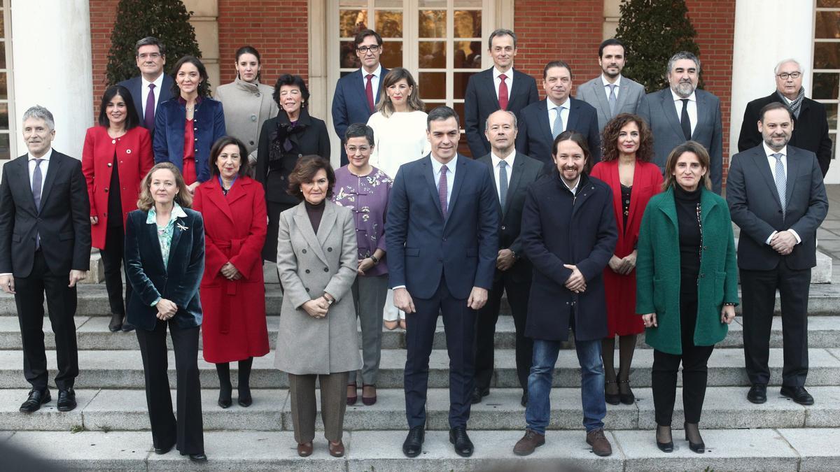 Foto de familia del Gobierno.