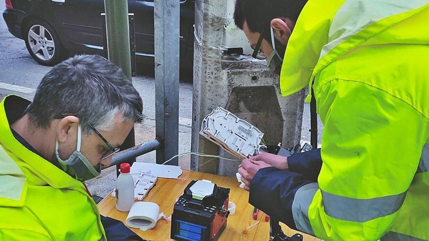 Vilanova mejora el servicio de fibra óptica en las zonas más rurales
