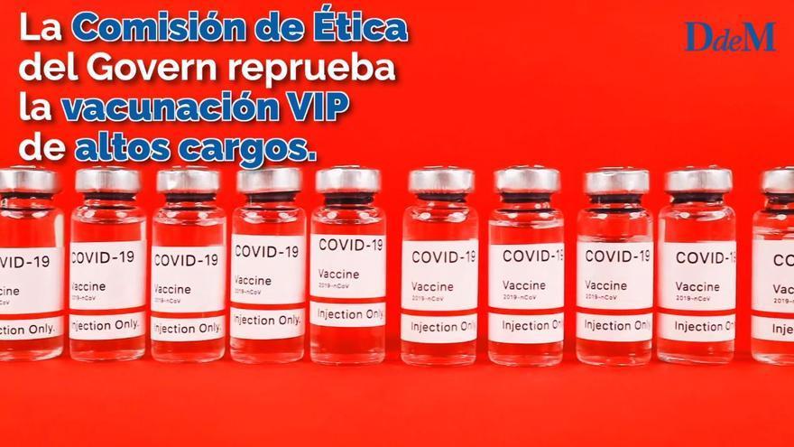 La Comisión de Ética del Govern reprueba la vacunación VIP de altos cargos