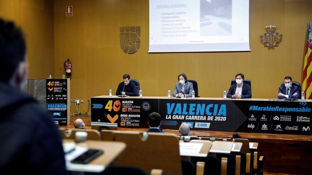 Presentación del Maratón València Trinidad Alfonso EDP 2020