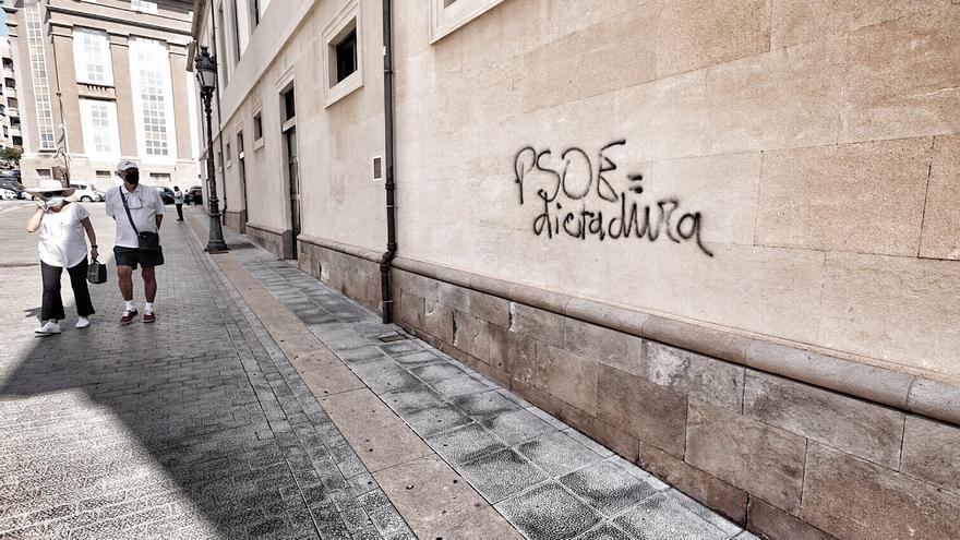 Vandalismo en el Teatro Guimerá