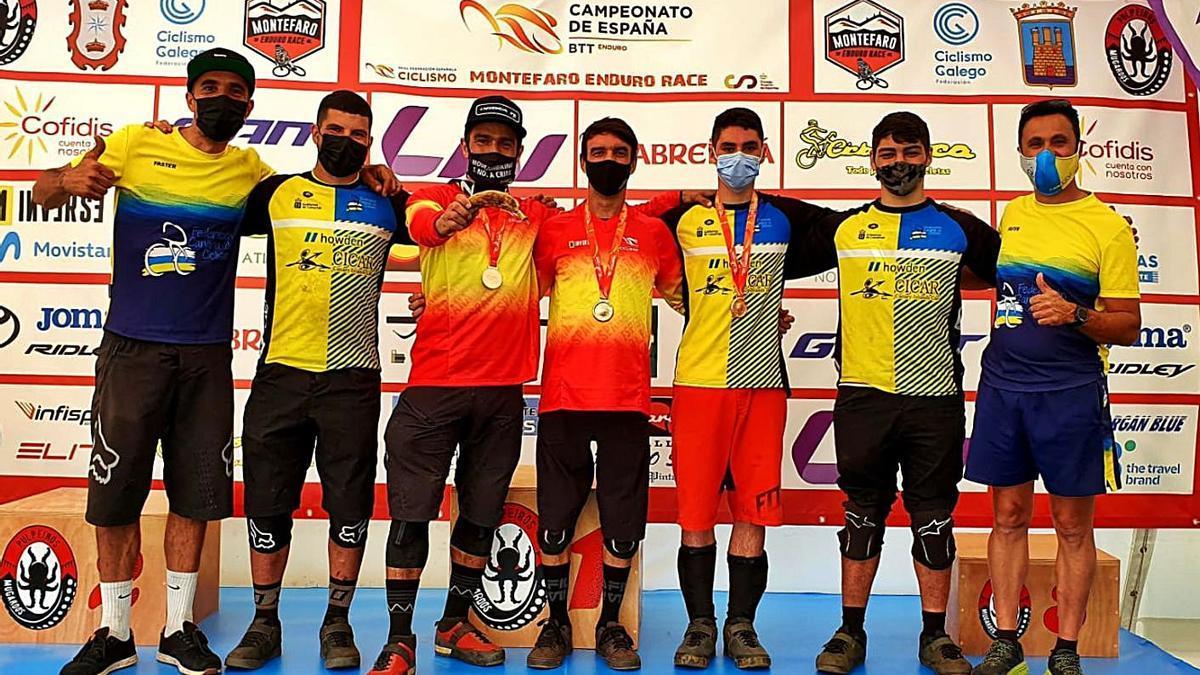 En la imagen, los integrantes de la selección canaria presentes en el Campeonato de España, en Galicia. | | LP/DLP