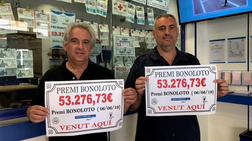L'Anxova Milionària de l'Escala reparteix més de 53.000 euros d'un premi de la BonoLoto