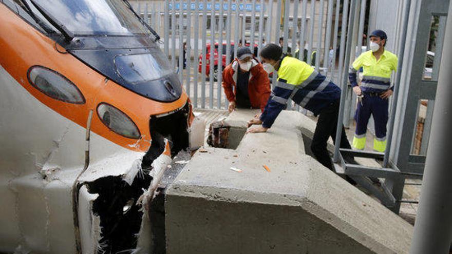 Setze ferits de caràcter lleu en un accident ferroviari a l'estació de Mataró