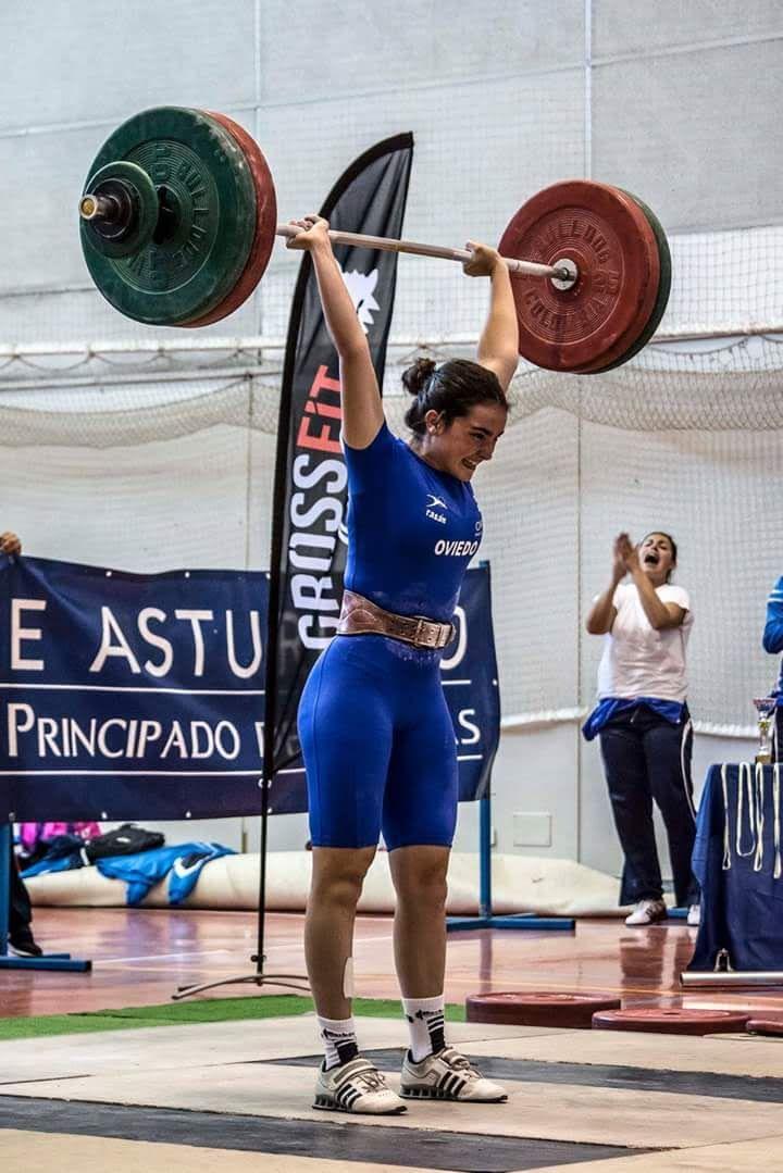 Nerea Fernández, durante una  competición.