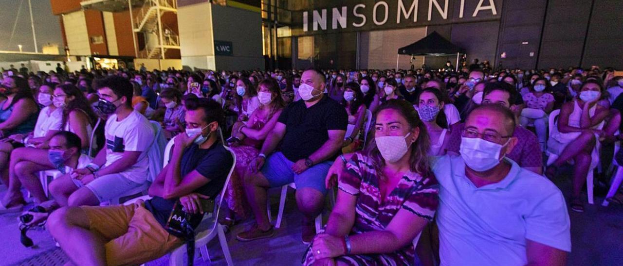 Espectadores en el concierto de Pablo López en la Marina de València el pasado agosto.
