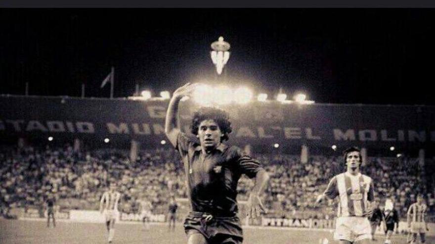 El emotivo recuerdo del Sporting a Maradona de su paso por El Molinón