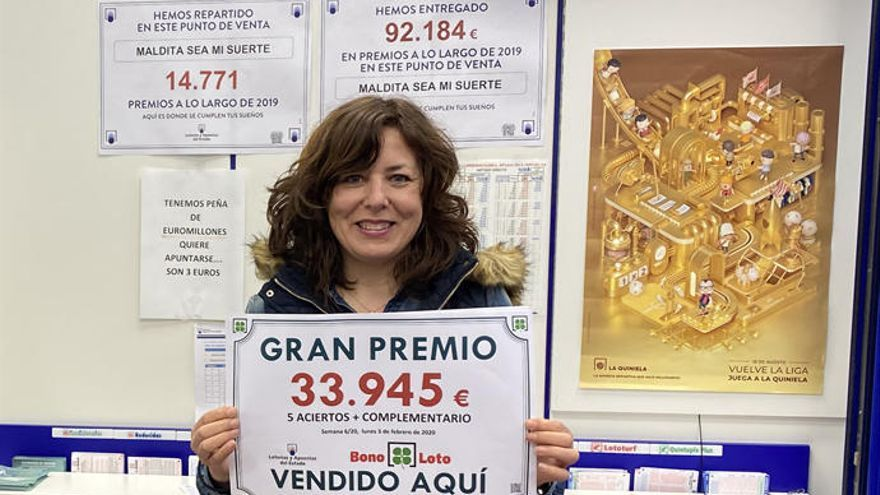 La Bonoloto deja un premio de casi 34.000 euros en A Coruña