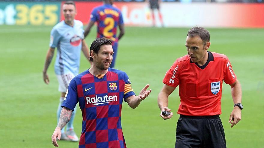 Balaídos, escenario de la bronca definitiva entre Messi y Quique Setién