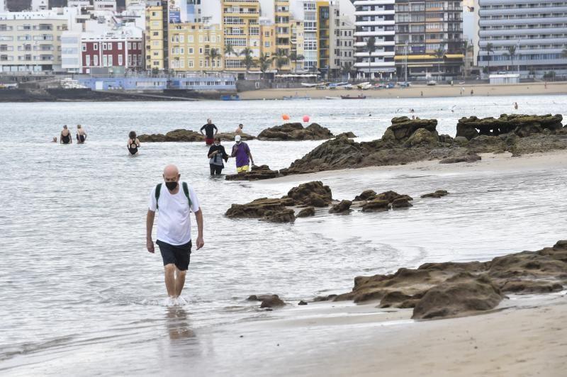 Marea baja en Las Canteras