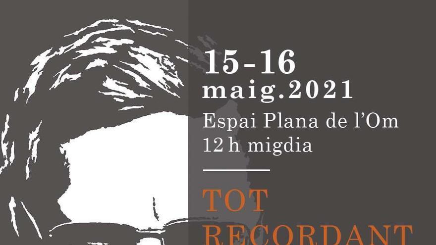Diferents entitats organitzen dos actes a l'Espai Plana de l'Om per recordar Lluís Calderer