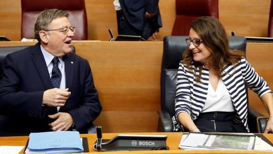Puig y Oltra advierten: «La solución catalana no puede ser a nuestra costa»