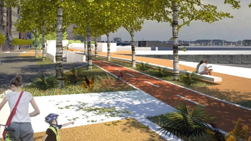 El plan para conectar Cimadevilla con el paseo de Poniente con dos elevadores