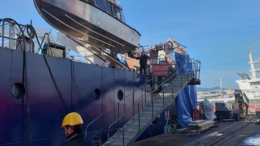 El oceanográfico de Armón para Suecia ya tiene en Vigo su embarcación de apoyo
