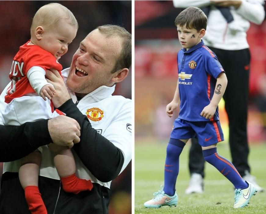 Uno de los hijos de Wayne Rooney.
