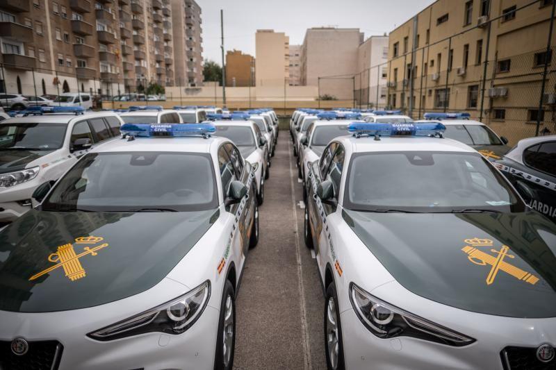 Presentación de nuevos vehículos de la Guardia Civil