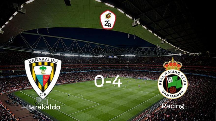El Racing de Santander suma tres puntos tras pasar por encima del Barakaldo (0-4)