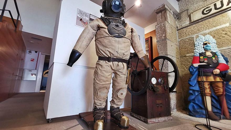 El Museo Massó incorpora un equipo de buceo idéntico a los de las inmersiones en Rande