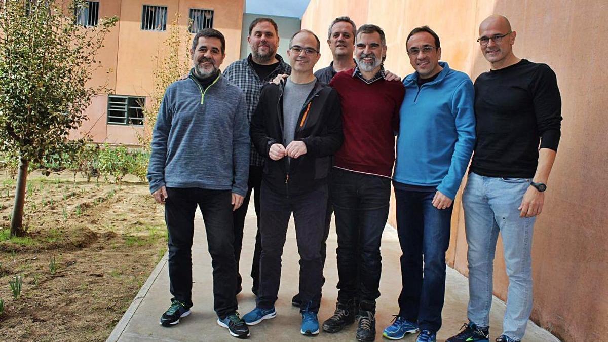 Els presos independentistes a Lledoners, en una imatge del 2018