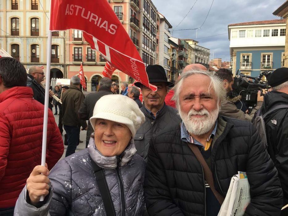 Manifestación de pensionistas en Asturias