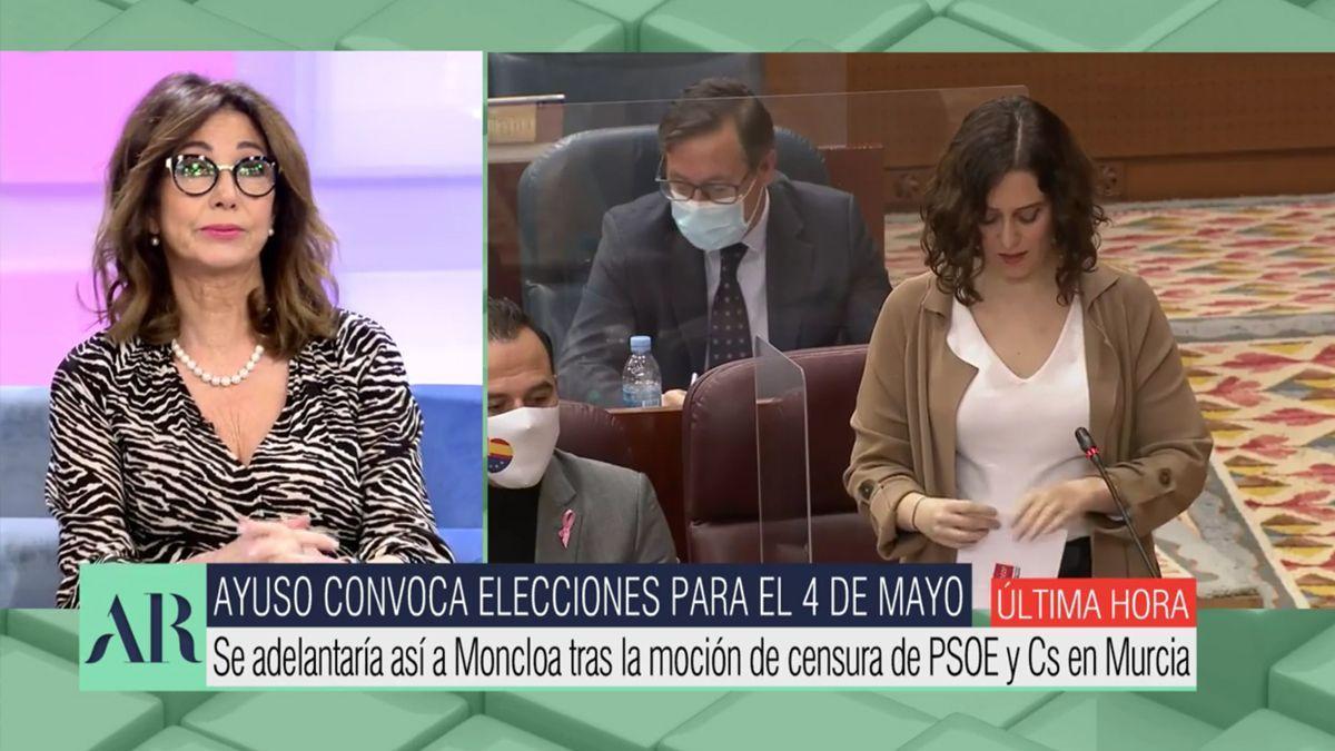 Ana Rosa defends Ayuso.