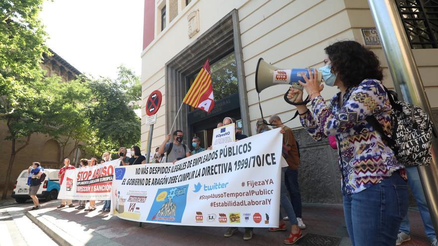 Los interinos aragoneses quieren que los trabajadores en fraude de ley sean fijos a extinguir