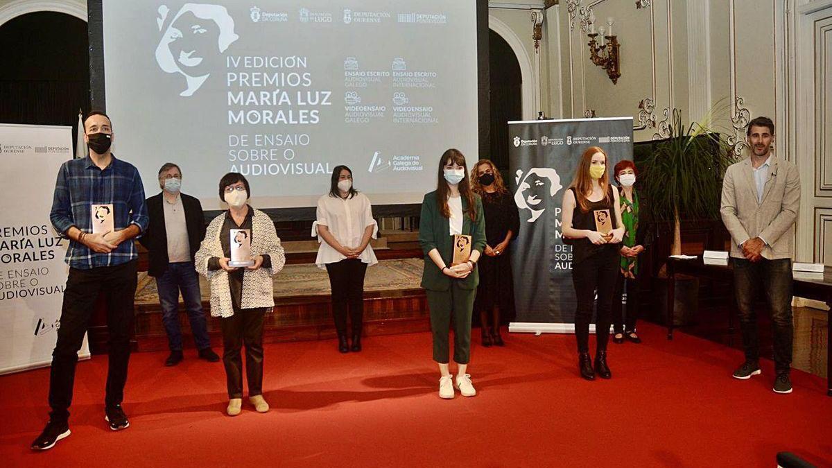 Entrega de premios María Luz Morales ayer en el Pazo de la Diputación.