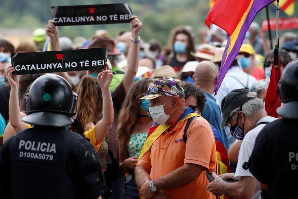Protestes en contra de la visita dels reis a Catalunya