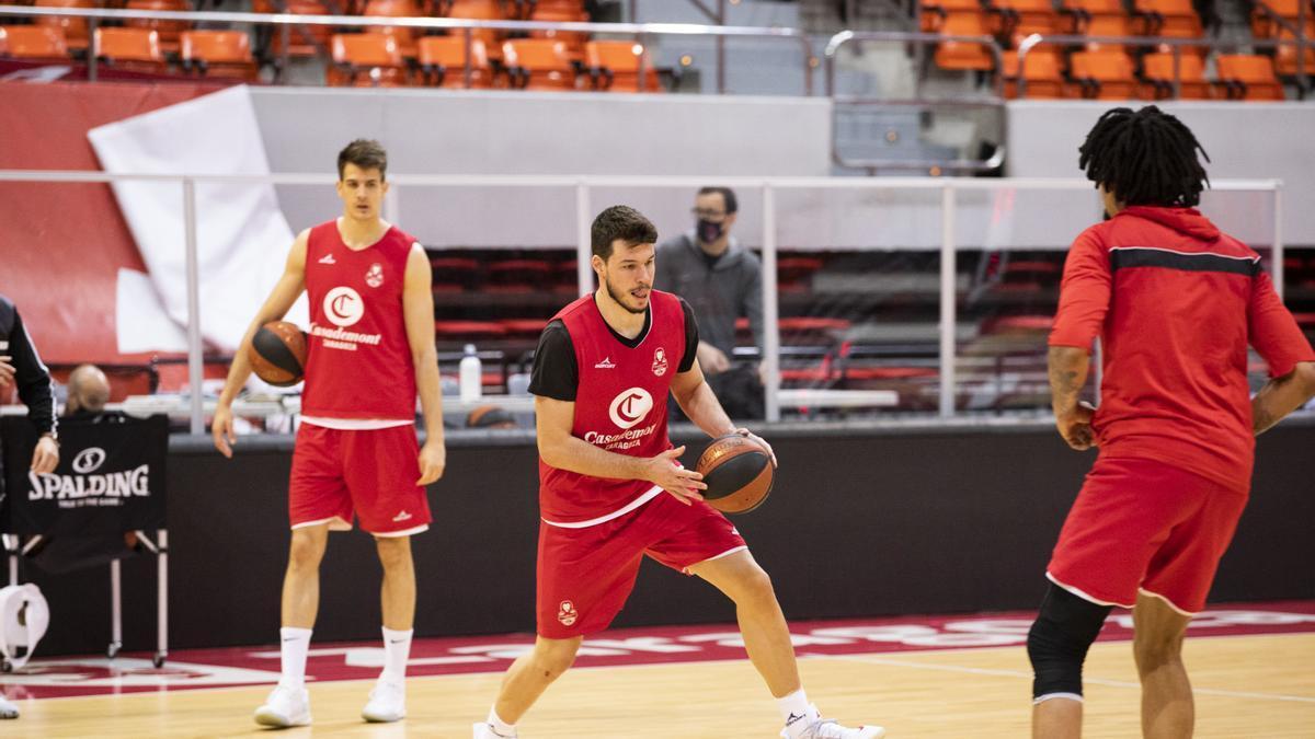 Jonathan Barreiro, durante un entrenamiento reciente en el Príncipe Felipe.