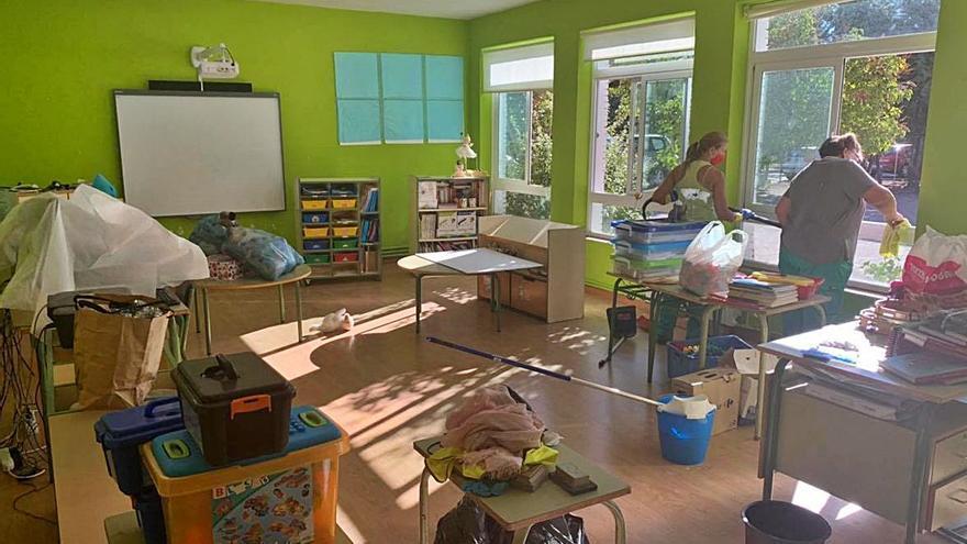 Los colegios de Morales y Arcenillas, preparados para la vuelta a las aulas de hoy