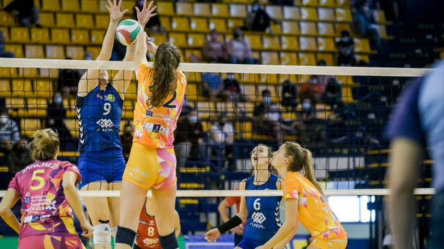 El CV 7 Palmas pierde la Copa de la Reina frente al Feel Volley Alcobendas