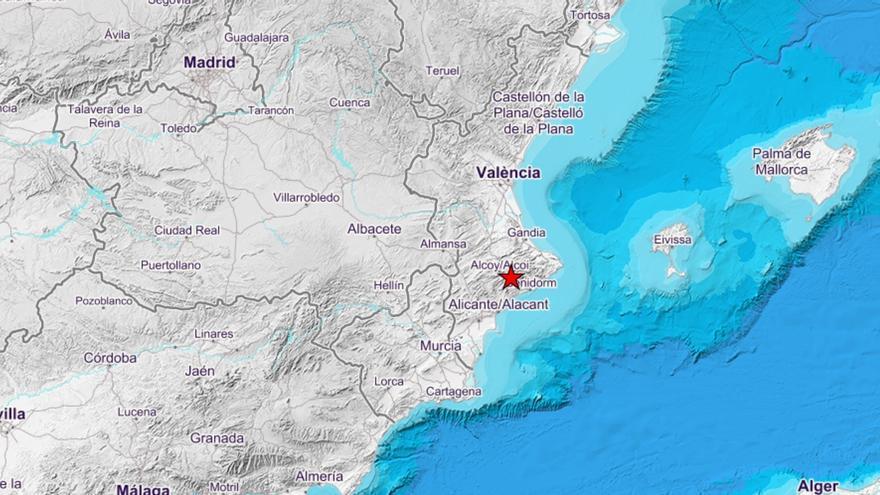 Nuevo terremoto en Alicante de 2,9 de magnitud