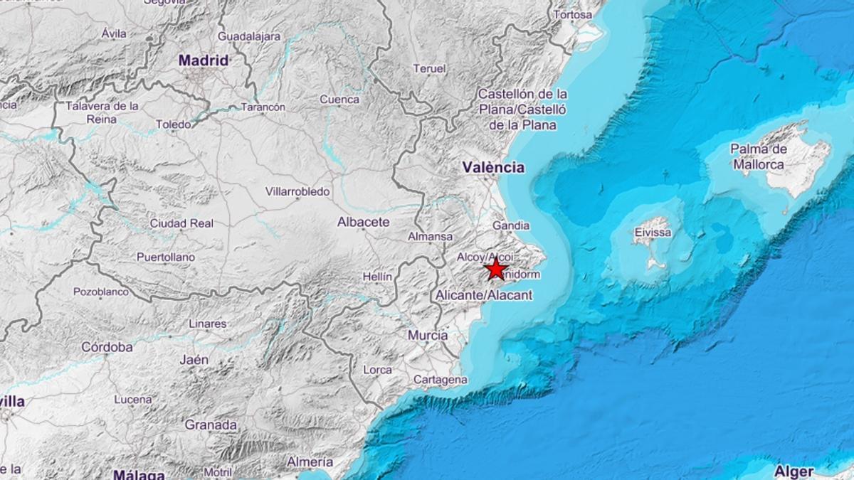 Movimiento sísmico en Alcoleja
