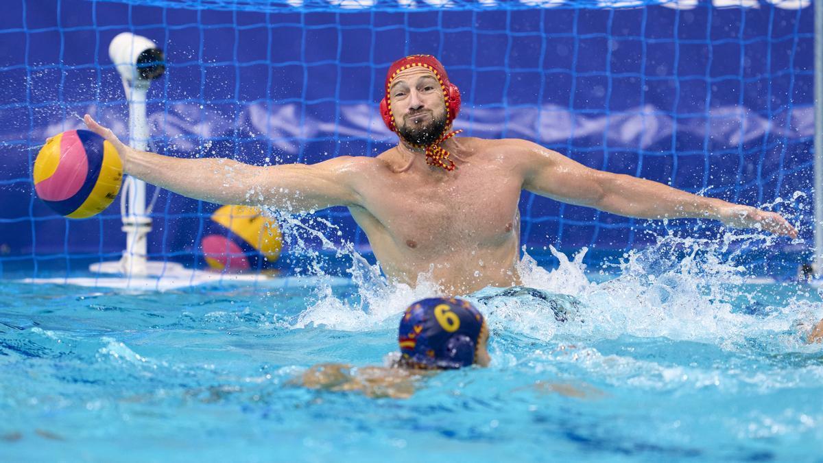 El portero de la selección española de waterpolo, Dani López Pinedo.