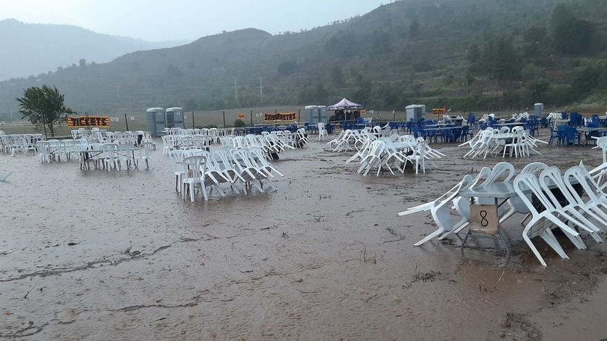 Morella lidera la lluvia acumulada hoy en España y l'Aplec se cancela