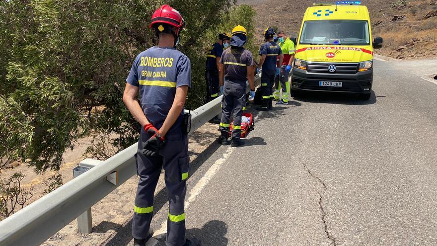 Rescatados tres senderistas en Gran Canaria con problemas de deshidratación
