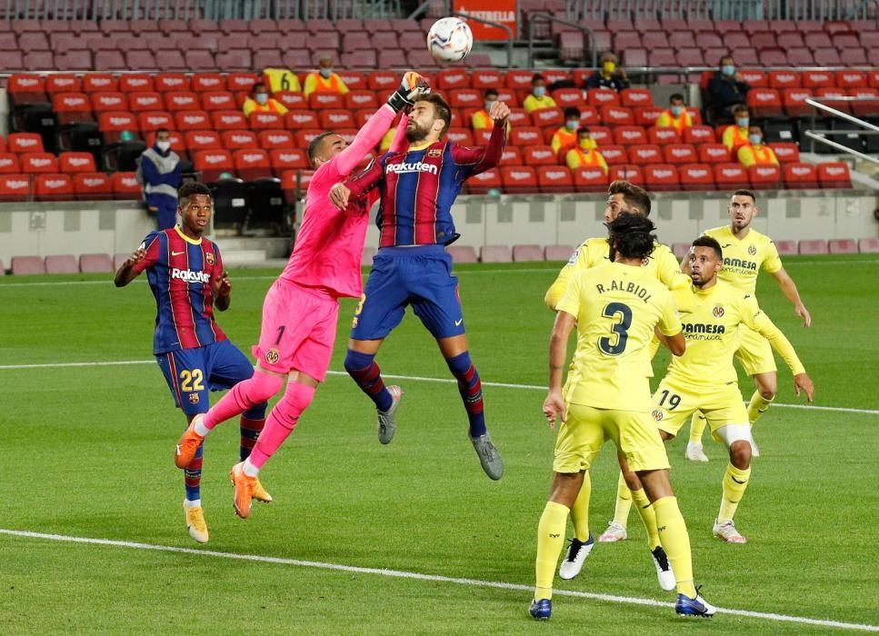 El Barça - Villarreal, en imágenes.