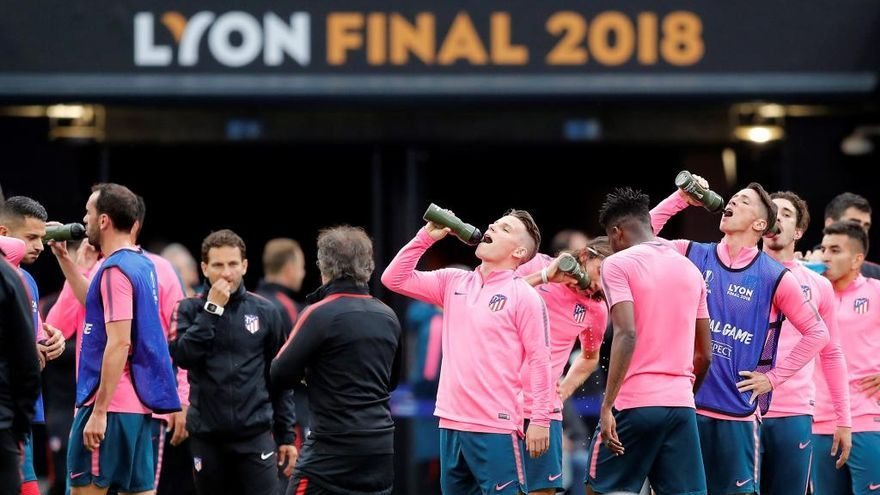 El Atlético, invicto en sus partidos contra el Marsella