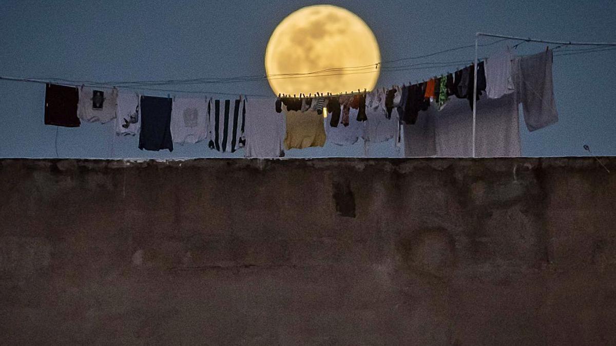 Luna amarilla  sobre Santa Cruz