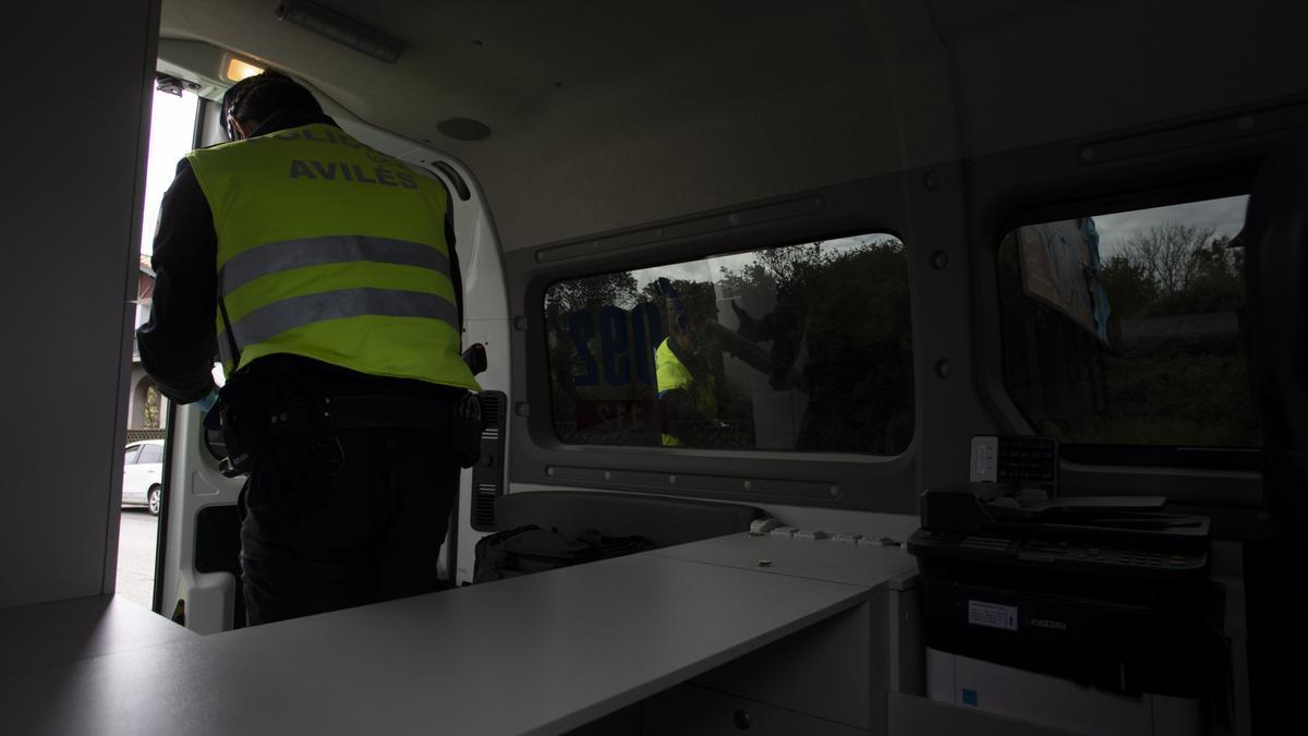 Policía Local durante un control