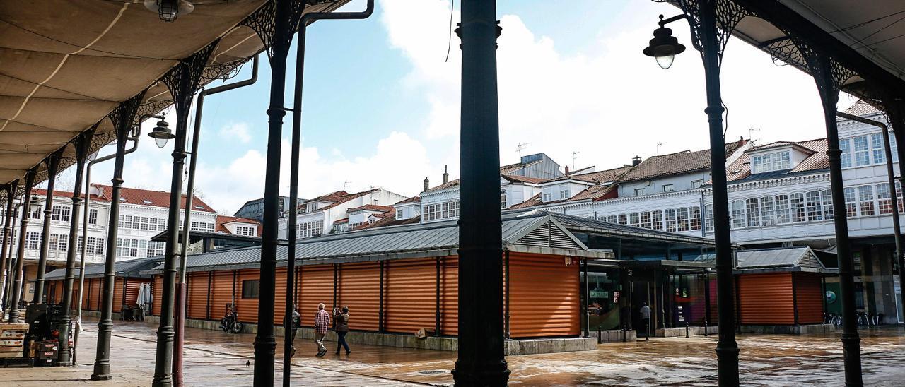 Instalaciones del Mercado de Avilés, en Hermanos Orbón.