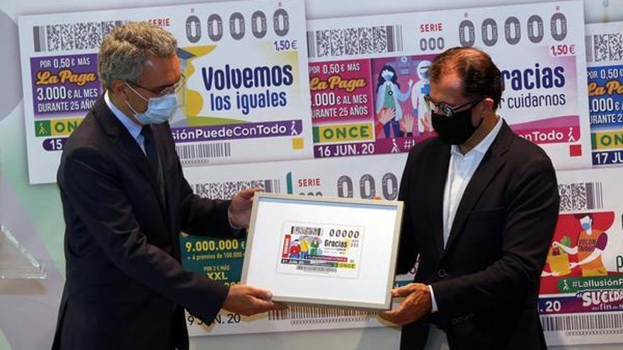 La ONCE lanza un cupón por cada ciudadano para agradecer la lucha de todos contra la pandemia