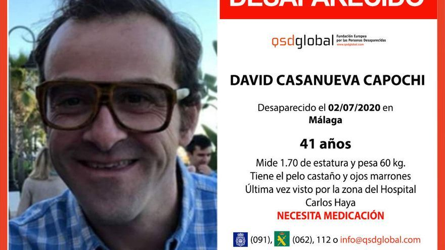 La Policía Local localiza a David Casanueva y lo traslada al hospital