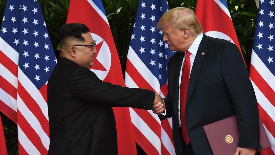 Donald Trump y Kim Jong-un, durante uno de sus encuentros