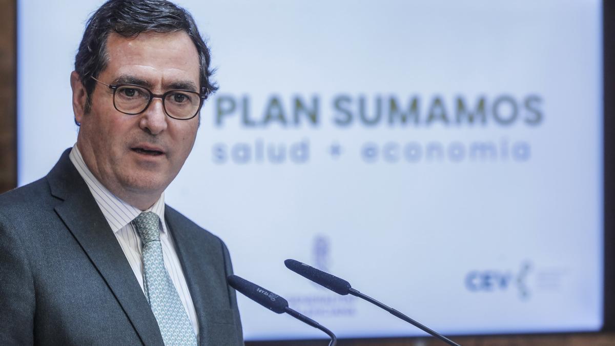 El presidente de la CEOE, Antonio Garamendi.