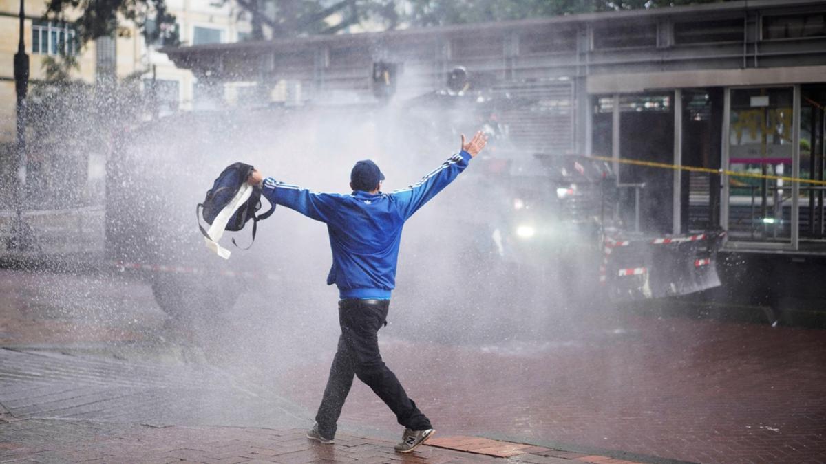 Un momento de las protestas en Colombia.