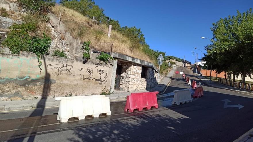 La calle Espíritu Santo de Zamora estará cortada dos semanas