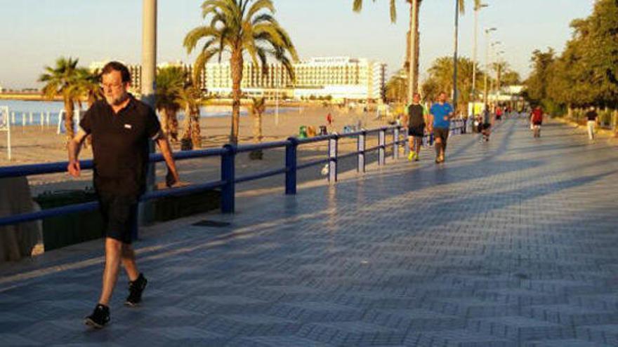 Rajoy sale a correr por Alicante