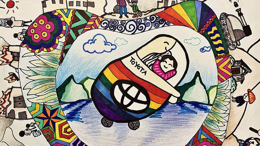 Un dibujo de una niña canaria gana el concurso mundial de 'Toyota Dream Car'